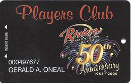 Riviera Casino - Las Vegas, NV - 50th Anniv. Slot Card - Cartes De Casino