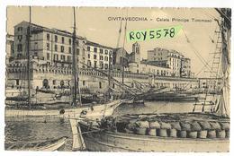 Lazio-civitavecchia Calata Principe Tommaso Differente Particolare Veduta Primi 900 - Civitavecchia