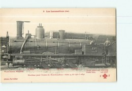 Cie EST - Machine 0501 à 0691 Pour Trains De Marchandises - Les Locomotives  , Ed. Fleury - 2 Scans - Matériel