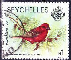 Seychellen - Madagaskarweber (Foudia Madagascariensis) (MiNr: 402 III.III) 1977 - Gest Used Obl - Seychelles (1976-...)