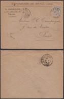 Colonies Françaises - Indochine -Lettre Yvert N°19 Exposition De Hanoï 1902 Vers Paris  (6G18538) DC0840 - Indochina (1889-1945)