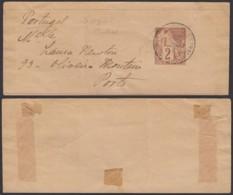 Colonies Françaises - Indochine -Bande Imprimée Des Col. Générales  2C. De Saigon Vers Portugal (6G18538) DC0864 - Indochine (1889-1945)