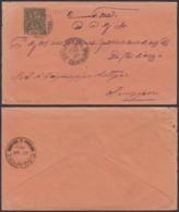 Colonies Françaises - Indochine - Lettre - Yvert N°10 De Saigon Central 25 OCT 1900 Vers Singapour (6G18538) DC0866 - Indochina (1889-1945)