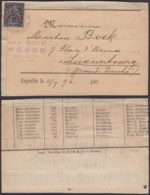 Colonies Françaises - Indochine - Yvert N°7 Sur Bande Imprimée Vers Luxembourg (6G18538) DC0871 - Indochine (1889-1945)