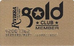 Riviera Casino - Las Vegas NV -  3rd Issue Slot Card - Gold Club Member - Casino Cards