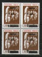 Portuguese India 1962 Mother & Child Family 7np O/P On $40 Unissued Blk/4 MNH - Cultures
