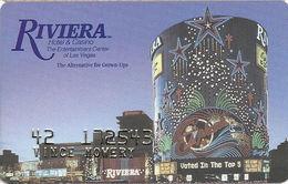 Riviera Casino - Las Vegas NV -  Slot Card - Last Line Text Starts With 'months' - Cartes De Casino