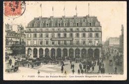 PARIS  - Place Du Palais Royal - Les Grands Magasins Du Louvre - CPA Voyagée 1906 - Recto Verso - - Plätze
