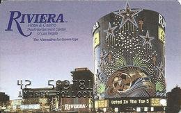 Riviera Casino - Las Vegas NV -  Slot Card - Last Line Text Starts With 'without' - Cartes De Casino