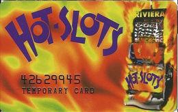 Riviera Casino - Las Vegas NV -  Temporary Slot Card - Embossed# - Casino Cards