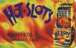 Riviera Casino - Las Vegas NV -  Temporary Slot Card - Printed Single# - Casino Cards