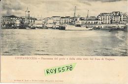 Lazio-civitavecchia Panorama Del Porto E Della Citta Visto Dal Faro Trajano Primissimi 900 - Civitavecchia
