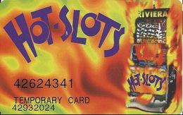 Riviera Casino - Las Vegas NV -  Temporary Slot Card - Printed Double# - Casino Cards