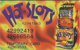 Riviera Casino - Las Vegas NV -  Temporary Slot Card - Printed Four#s - Casino Cards
