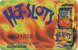 Riviera Casino - Las Vegas NV -  Temporary Slot Card - Printed Two#s + X'd Out Number - Casino Cards