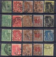FRANCE Et COLONIES ! Timbres Anciens D'INDOCHINE Et SURCHARGES Depuis 1904 - Indochine (1889-1945)