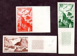 Algérie PA N° 9/11 N** LUXE Non Dentelés Cote 85 Euros !!!RARE - Poste Aérienne