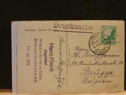 80/827    CP  ALLEMAGNE  POUR LA BELG.  1936 - Deutschland