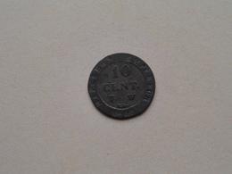 1808 W ( Napoléon ) 10 Centimes ( KM 676.9 ) Uncleaned ! - France