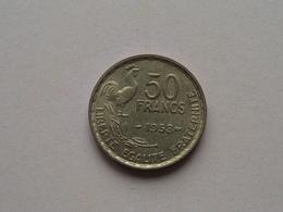 1953 - 50 Francs ( KM 918.1 ) Uncleaned ! - France