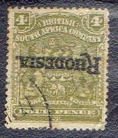 COLONIES BRITANNIQUE !  Timbre Ancien De RHODÉSIE De 1909! SURCHARGE RENVERSÉE ! - Inde (...-1947)
