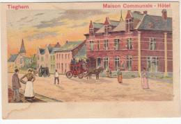 Tieghem, Tiegem, Maison Communale, Hôtel (19168) - Anzegem