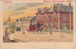 Tieghem, Tiegem, Maison Communale, Hotel (19170) - Anzegem