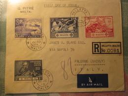 Busta Viaggiata 1° Giorno Emissione / Malta 1949 - Malta