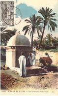Une Fontaine Dans L'oasis Tampon John Wuitton's Sous Officier Campement De Meknes - Otros