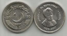 Pakistan 50 Rupees 2017. Dr. Ruth Pfau High Grade - Pakistan