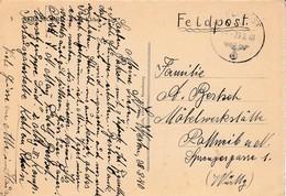 CP Avec Cachet FELDPOST Du 29.8.1940 Expédiée Par Un Obersturmm De La Einsatzgruppe Süd = SICHERHEITSDIENTST STRASSBURG - Poststempel (Briefe)
