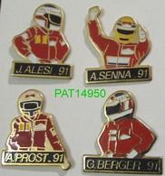 F1 91 ALESI SENNA PROST BERGER Sponsor MARLBORO Lot De 4 Pin's Avec Attaches - F1