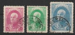 MiNr. 702, 704, 711 Iran / 1936/1937. Freimarken: Reza Schah Pahlavi Ohne Mütze Im Oval. - Iran
