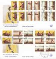 DC-1523 - FDC NEDERLAND 1997 - KINDERPOSTZEGELS VHK SPROOKJES - 2 COVERS - BLOKKEN VAN 4 ZEGELS - PAREN HOR. EN VERT. - FDC