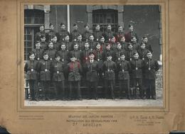 MILITARIA PHOTO ORIGINALE 22X16,5 MILITAIRE  POMPIERS 3e Sct 43 PHOTO H TOURTE & PETITIN LEVALLOIS PARIS RUE GIDE : - Pompiers
