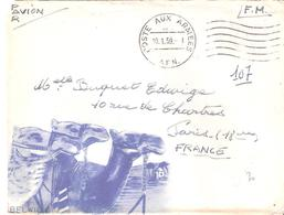 Enveloppe Illustrée Oblitérée POSTE AUX ARMEES Flamme à Pont Ondulée à Droite De S.P.87552 - Marcophilie (Lettres)