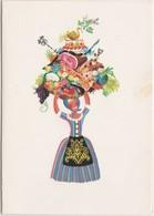MENU-ILLUSTREE-1964-WILSELE-MARIA SCHROEVEN-ORIGINAL-OLD-DOCUMENT+-10,5-15CM DEPLIANT-VOYEZ LES 3 SCANS! ! ! - Menus