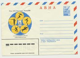 45-695 Russia USSR Postal Stationery Cover 1979 Moscow 1980 Olympics Pentathlon - 1923-1991 USSR