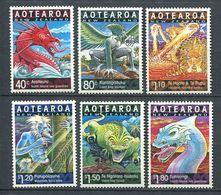 240 NOUVELLE ZELANDE 2000 - Yvert 1742/47 - Dragon Annee Lunaire Chinoise - Neuf ** (MNH) Sans Trace De Charniere - Nuova Zelanda