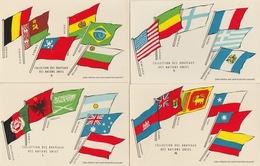 18/11/455. -  LOT  DE  6  CPA   DRAPEAUX  DIVERS  DES  NATIONS  UNIES - Pubblicitari