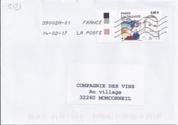 TP N° 5121 SUR LETTRE   DE 2017 - Postmark Collection (Covers)