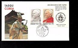 1984 Pope Visit Block On FDC (209) - Korea (Süd-)