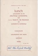 MENU-LUNCH-IZENBERGE-PLECHTIGE AANSTELLING--PASTOOR-E.H. DE MEESTER-1946-ORIGINAL-VINTAGE-DOCUMENT+-11-16,5CM! - Menus
