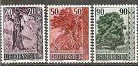 LieMi.Nr.377-79** 1959 Lärche, Holunder, Linde, MNH - Liechtenstein