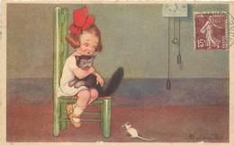 COLOMBO E (illustrateur) - Petite Fille Et Son Chat Et La Souris. - Colombo, E.