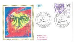 FDC Jules Romains (43 St Julien Chapteuil 23/02/1985) - FDC