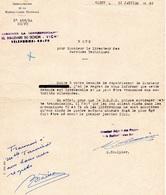 """Document-  """"Demande De Rapatriement-Prisonnier""""- - Documents"""