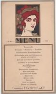 MENU-CHAMPAGNE-E.GERARDIN&CO-1931-ARTDECO-FEMME-ORIGINAL-VINTAGE-DOCUMENT-12,5-21CM-A ETE PLIES-LEGEREMENT-VOYEZ 2 SCANS - Menus