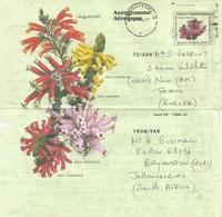 South Africa RSA 1993 Johannesburg Fijnbosch Flowers Erica Aerogramme - Luchtpost