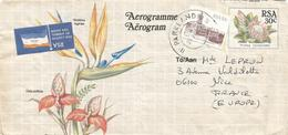 South Africa RSA 1990 Parklands Fijnbosch Flowers Strelitzia Reginae Protea Cynaroides Aerogramme - Luchtpost